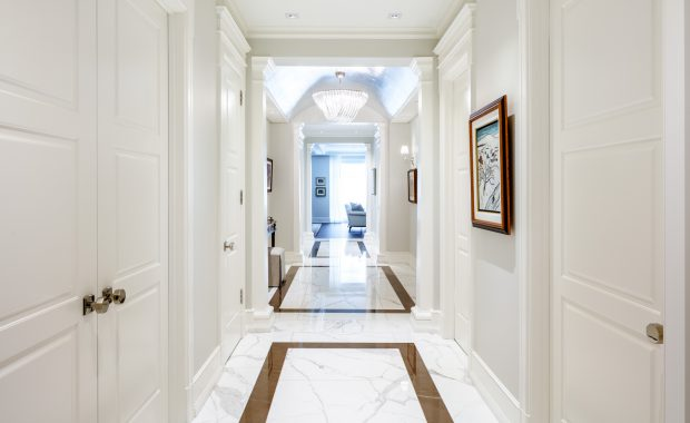 White hallway professioally painted and finished by Stuart Dearlove